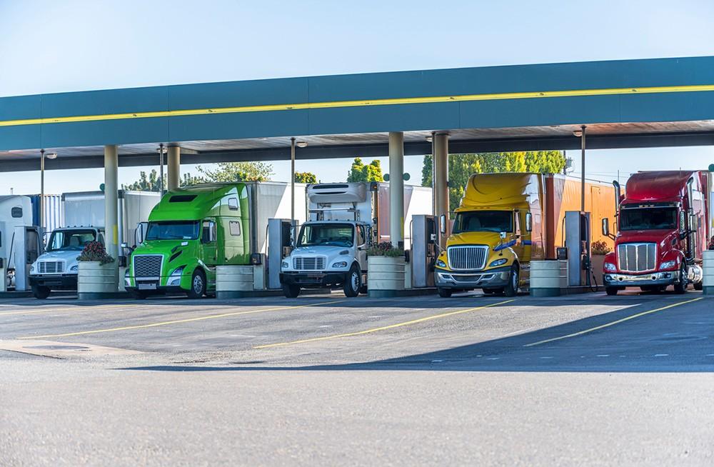 Semi Trucks Refueling